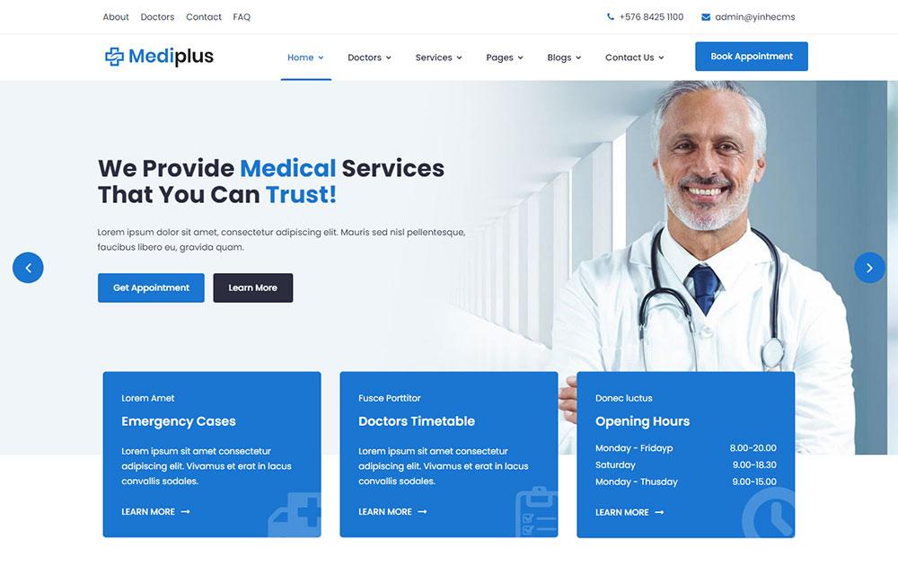 民营医院,医疗器械,自适应企业网站模板